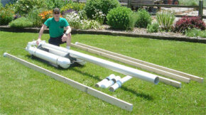 A custom air cannon built for use as a tornado simulator for the U.S. Department of Agriculture.