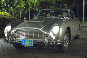 "Daniel Craig as James Bond in his Aston Martin DB5, from ""Casino Royale"""