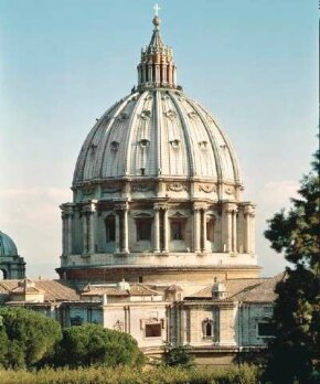 Michelangelo worked on St. Peter's Basilica from 1546 until his death in 1564. Thanks to him, the great dome (dome 265 feet high x 190 feet in diameter) became reality. The basilica can be visited in the Vatican.