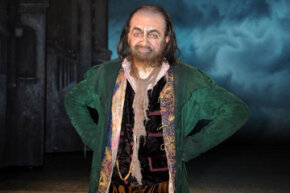 "Rowan Atkinson of Mr. Bean fame transforms into Fagin in the musical ""Oliver!"""