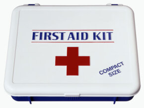 A stage manager's kit should include first-aid supplies.