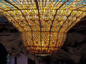 The huge upside down dome in the The Palace of Catalan Music is an incredib­le work of stained glass.