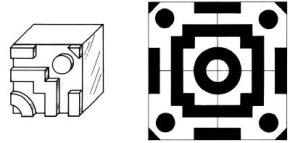 Make cool geometric designs with the Art Gum Printer Stamp.