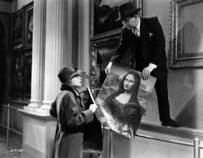 """In a scene from the 1937 movie """"Good Morning Boys,"""" Mark Daly and Lilli Palmer swap the real Mona Lisa for a copy. Art heists have grown more and more common."""