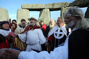 The theory that Druids built Stonehenge originally surfaced in the 17th century. Today, people calling themselves Druids visit Stonehenge to celebrate events like the Summer Solstice.