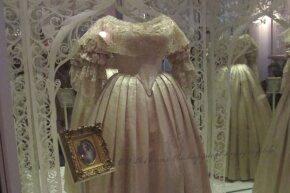Queen Victoria's wedding dress on diplay in Kensington Palace in March 2012.