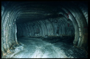 Tunnels wind through subterranean chambers at a Strategic Petroleum Reserve facility in West Hackberry, La.