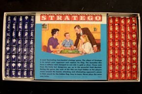 Stratego's design aesthetic has changes since this Milton Bradley set was printed in 1970, but much of the gameplay has remained the same for decades.