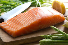 Fatty fish, such as salmon, is rich in bone-strengthening vitamin D.