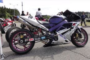 A stretched sportbike will often handle differently and go much faster.
