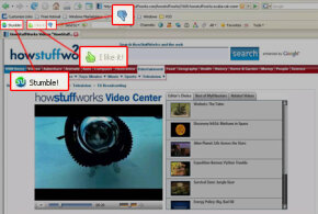 The Stumble! button can take you surfing through some great pages, which you can then rate with a thumbs-up or a thumbs-down.