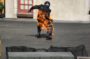 Being set on fire is one of the most dangerous things a stuntman can do.