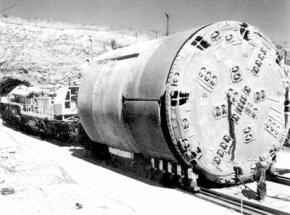 A tunnel-boring machine