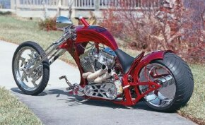 The Suicide Softail chopper has distinctive, sculpted bodywork. See more motorcycle pictures.