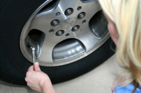 Make sure to check your tire pressure regularly with an accurate gauge.
