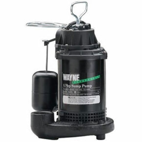 A Wayne 1/3 horsepower submersible sump pump.