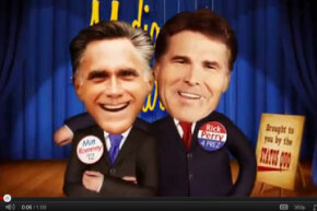 Expect to see a plethora of negative commercials like this one in the 2012 campaign. The New Revolution Super PAC produced and paid for the ad, which slams GOP presidential nominee hopefuls, Mitt Romney and Texas Governor Rick Perry, in support of Senator Ron Paul's bid for the Republican presidential nomination. See the entire commercial here.