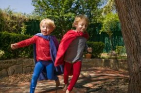 A superhero themed party lets young imaginations soar.