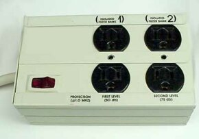 This inexpensive, quality protector features basic MOV protection and line-conditioning systems.