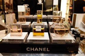 An array of Chanel perfumes at Saks Fifth Ave in Beverly Hills, Calif.