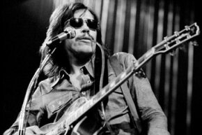 John Kay of Steppenwolf performs with a talk box in 1972.
