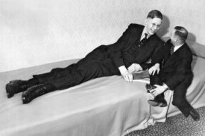 Robert Wadlow was already 8 feet, 7 inches tall at the young age of 19 in this photo — and he hadn't stop growing yet.