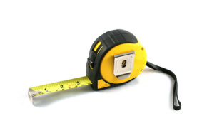 A tape measure takes up a lot less space than a yardstick.