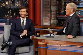 "Actor David Tennant appearing on ""The Late Show with David Letterman"" in 2014."