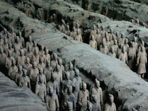 Farmers accidently discovered Emperor Qin's terracotta army in 1974.