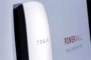 The Tesla Powerwall is unveiled on April 30, 2015.
