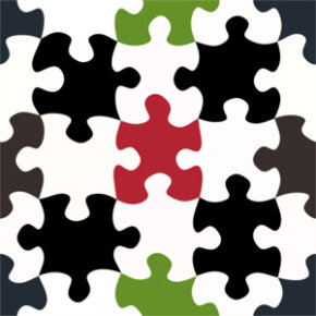 A jigsaw puzzle offers an easy visual of a tessellation we might commonly encounter.