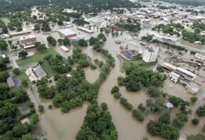Floodwaters caused significant devastation across Texas. Much of the town of Gainesville was under water.