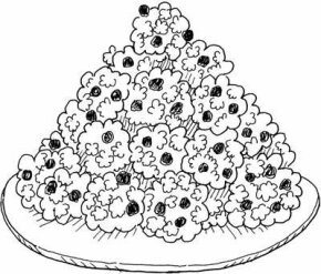 Orangey Popcorn Balls Thanksgiving Craft