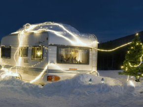 A neat set up for a travel trailer, sure. But with a generator, it would be super cold inside.