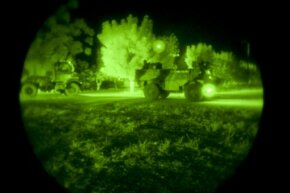 Don't be confused. Night vision imaging (pictured here) is not the same as thermal imaging.