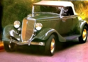 The Timmis-Ford V-8 can easily be mistaken for a restored example of the 1934 Ford V-8 DeLuxe Roadster.