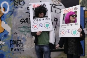 Thankfully, we won't be expected to dress as apps to date in the real world, but these costumes sure are fun!