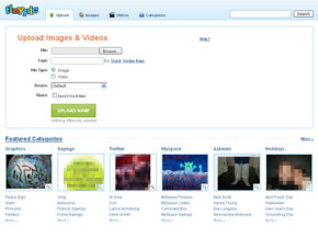 TinyPic lets you upload video and images to the Web without registering for an account. See more pictures of popular web sites.