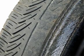 Bald heads are OK. Bald tires are not. The tread on these rubber road-huggers isn't looking good.