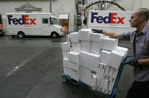 Fed Ex has one of the easiest recognizable vanity toll-free numbers: 1-800-GO-FED-EX.