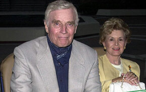 """Soylent Green"" starred Charlton Heston, pictured here with his wife."