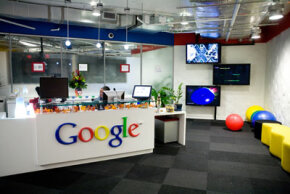 The reception area at Google, Inc.