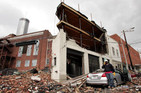 If you need proof that tornadoes can hit cities, look no further than the destruction in downtown Atlanta in 2008.