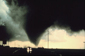 The danger posed by putting humans in front of tornadoes (like this one in Dimmit, Texas, in 1992) to deploy TOTO is one reason the device was eventually retired.