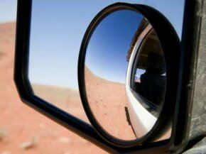 Convex hot spot mirrors are the simplest to attach to your existing side mirrors.