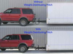 The difference between using a weight distribution system and going without is clearly illustrated here.