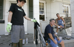 Water damaged homes are the likeliest candidates for mold infestations. Concerns over mold problems continue to plague the homes of families living in New Orleans, like the LaCours, following Hurricane Katrina. See pictures of natural disasters.