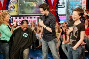 This fan of MTV's Total Request Live had to get his head shaved after losing a trivia contest.  While the audience certainly dug it, you don't have to be that extreme with your trivia night!