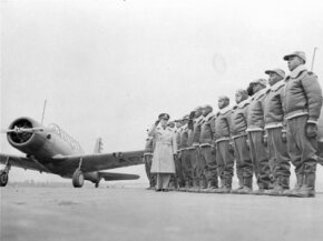 The Tuskegee Airmen are shown here in training on Jan. 23, 1942.