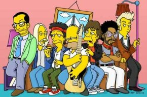 """""""The Simpsons"""" guest stars Elvis Costello, Tom Petty, Keith Richards, Mick Jagger, Lenny Kravitz and Brian Setzer."""